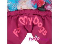 Obleček pro fenky – lehoučký zimní overal CORAL od For My Dogs z voduodpuzujícího materiálu. Kožešinová podšívka, zateplený sinteponem. (4)