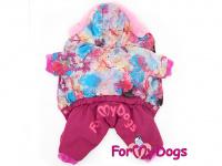 Obleček pro fenky – lehoučký zimní overal CORAL od For My Dogs z voduodpuzujícího materiálu. Kožešinová podšívka, zateplený sinteponem. (3)