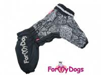 Obleček pro psy středních a větších plemen – zimní overal FIRE DEPT od ForMyDogs z voduodpudivého materiálu. Zapínání na zip na zádech, plyšová podšívka.