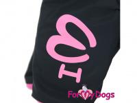 Obleček pro fenky – sinteponem zateplený zimní overal PINK ORIENT od ForMyDogs. Vylepšené zapínání na zádech, odnímatelná kapuce, kožešinová podšívka. (6)
