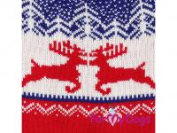 Obleček pro psy i fenky – stylový a teplý svetr REINDEER RED/BLUE od ForMyDogs. Materiál 100% akryl, zdobený severským zimním vzorem. (3)