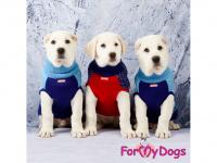 Obleček pro psy i fenky – stylový a teplý svetr REINDEER RED/BLUE od ForMyDogs. Materiál 100% akryl, zdobený severským zimním vzorem. (4)