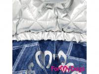 Obleček pro psy – teplý zimní overal SILVER BLUE od For My Dogs z voduodpuzujícího materiálu. Kožešinová podšívka, zateplený sinteponem. (4)