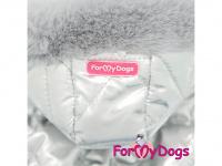 Obleček pro psy – teplý zimní overal SILVER BLUE od For My Dogs z voduodpuzujícího materiálu. Kožešinová podšívka, zateplený sinteponem. (5)
