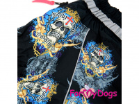 Obleček pro psy westíků – teplý zimní overal SKULL od ForMyDogs z voduodpudivého materiálu. Zapínání na zip na zádech, plyšová podšívka. (3)
