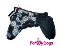 Obleček pro psy westíků – teplý zimní overal SKULL od ForMyDogs z voduodpudivého materiálu. Zapínání na zip na zádech, plyšová podšívka. (4)