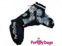 Obleček pro psy westíků – teplý zimní overal SKULL od ForMyDogs z voduodpudivého materiálu. Zapínání na zip na zádech, plyšová podšívka.