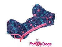 Obleček pro fenky – lehoučký overal ForMyDogs VIOLET FLEECE z vysoce kvalitního flísu. Barva růžovo-modrá. (3)