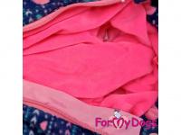 Obleček pro fenky jezevčíků – teplý zimní overal VIOLET FLEECE od FMD z vysoce kvalitního flísu. Zapínání na zip na zádech. (2)