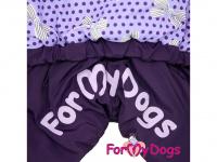 Obleček pro fenky – zimní overal VIOLET PURPLE od For My Dogs z voduodpuzujícího materiálu. Plyšová podšívka, barva fialová. (4)