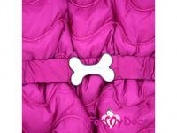 Obleček pro fenky – teplý zimní overal WAVES od ForMyDogs z voduodpuzujícího materiálu s plyšovou podšívkou. Barva růžová. (4)