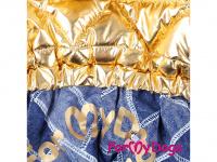 Obleček pro fenky – teplý zimní overal GOLD BLUE od For My Dogs z voduodpuzujícího materiálu. Kožešinová podšívka, zateplený sinteponem. (3)