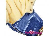 Obleček pro fenky – teplý zimní overal GOLD BLUE od For My Dogs z voduodpuzujícího materiálu. Kožešinová podšívka, zateplený sinteponem. (4)