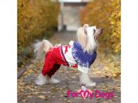 Obleček pro psy i fenky – pletený overal ForMyDogs RED REINDEER ze 100% akrylu pro ochranu před chladnějším suchým počasím. (FOTO 2)