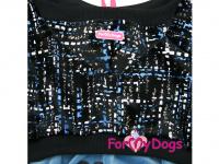 Obleček pro psy i fenky – lehoučký velurový overal s kapucí BLUE TONES od ForMyDogs. Vhodný i do suchého chladnějšího počasí nebo pro domácí nošení. (4)