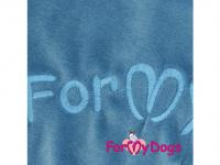 Obleček pro psy i fenky – lehoučký velurový overal s kapucí BLUE TONES od ForMyDogs. Vhodný i do suchého chladnějšího počasí nebo pro domácí nošení. (3)