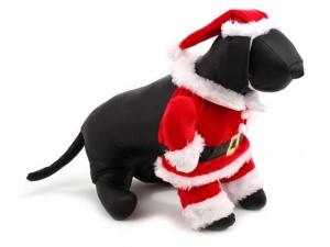 Santa obleček pro psy, z levé strany