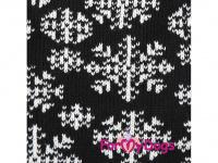 Svetr pro psy i fenky FMD – BLACK SNOWFLAKE, barva černo-bílá (3)