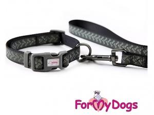 Obojky pro psy –  černý obojek z kolekce ForMyDogs BONES (2)