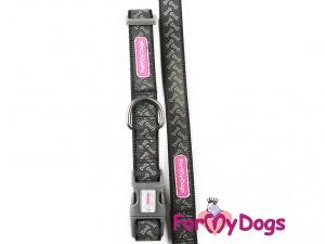 Obojky pro psy –  černý obojek z kolekce ForMyDogs BONES (3)