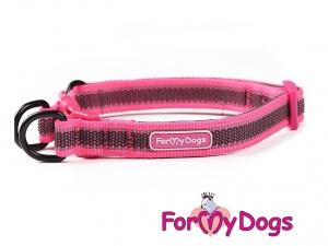 Obojky pro psy – růžový obojek z kolekce ForMyDogs RETROREFLECTIVE FUCHSIA (2)