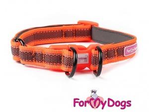 Obojky pro psy – oranžový obojek z kolekce ForMyDogs RETROREFLECTIVE ORANGE