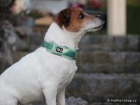Ergonomický obojek pro psy HURTTA z prodyšného polyesteru se zvýšenou odolností vůči povětrnostním vlivům. Pevná spona, reflexní prvky, nastavitelná délka. Barva zelená, vzor Park Camo. (FOTO 3)