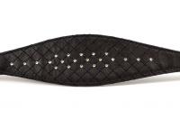 Luxusní obojek pro chrty a psy s citlivým krkem BOBBY Luxury Leather z pevné černé kůže zdobený krystaly SWAROVSKI (8).