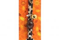 Stylový obojek pro kočky ROSEWOOD z měkoučkého semiše s gepardím vzorem. Bezpečnostní plastová spona, univerzální velikost (2).