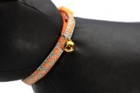 Stylový obojek pro kočky ROSEWOOD s oranžovým květinovým vzorem a reflexními prvky. Bezpečnostní plastová spona, univerzální velikost (3).
