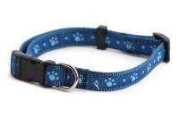 Obojek pro psy ROSEWOOD Blue Paw z vysokopevnostního nylonu s odolnou rychlozapínací sponou. Výběr velikostí pro všechna plemena psů.