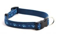 Obojek pro psy ROSEWOOD Blue Paw z vysokopevnostního nylonu s odolnou rychlozapínací sponou. Výběr velikostí pro všechna plemena psů (3).