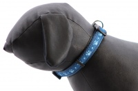 Obojek pro psy ROSEWOOD Blue Paw z vysokopevnostního nylonu s odolnou rychlozapínací sponou. Výběr velikostí pro všechna plemena psů (4).