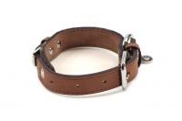 Stylový obojek pro psy ROSEWOOD Tweed Check z jemné měkké kůže s leštěnou přezkou (3).
