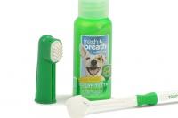 Oral Kit Small – sada na čištění zubů psů kartáčkem, která obsahuje gel na čištění zubů, kartáček na prst a kartáček s trojitou hlavou (3).