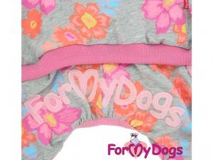 Obleček pro psy i fenky – overal DAISIES s květinovým vzorem, detail (2)
