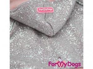 Obleček pro psy i fenky – lehoučký pletený overal z veluru, detail