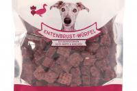 Vynikající pamlsky pro psy – kachní kostky s cizrnou a červenou řepou. Pamlsky jsou sušené mrazem pro intenzivní chuť a zachování živin. (2)