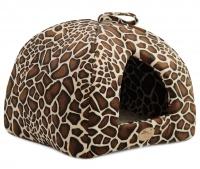 Heboučký uzavřený pelíšek z kolekce luxusních pelechů pro psy, kočky, štěňata a koťata z nejkvalitnějších materiálů. (2)