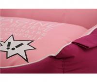 Luxusní pelíšek pro psy BOBBY CORBEILLE IMAGINE s pevným vysokým okrajem a vyjímatelnou podložkou. Potah lze sundat a prát v pračce, rozměry 60 × 51 cm. (3)