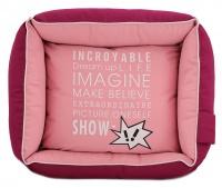 Luxusní pelíšek pro psy BOBBY CORBEILLE IMAGINE s pevným vysokým okrajem a vyjímatelnou podložkou. Potah lze sundat a prát v pračce, rozměry 60 × 51 cm. (5)