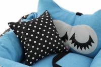 Modrá autosedačka pro psy – pelíšek pro pohodlné cestování a ochranu autosedadel před psími chlupy, nečistotami a poškozením. (6)