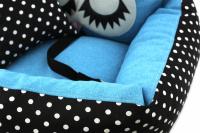 Modrá autosedačka pro psy – pelíšek pro pohodlné cestování a ochranu autosedadel před psími chlupy, nečistotami a poškozením. (7)