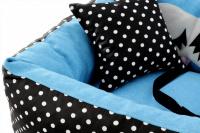 Modrá autosedačka pro psy – pelíšek pro pohodlné cestování a ochranu autosedadel před psími chlupy, nečistotami a poškozením. (8)