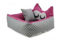 Růžová autosedačka pro psy – pelíšek pro pohodlné cestování a ochranu autosedadel před psími chlupy, nečistotami a poškozením. (2)