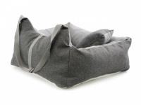 Šedá autosedačka pro psy – pelíšek pro pohodlné cestování a ochranu autosedadel před psími chlupy, nečistotami a poškozením. (6)