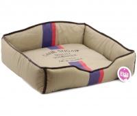 Luxusní pelech pro psy v originálním retro designu BOBBY. Vyjímatelný pohodlný polštář, možnost praní v pračce. (2)