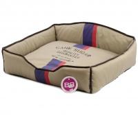 Luxusní pelech pro psy v originálním retro designu BOBBY. Vyjímatelný pohodlný polštář, možnost praní v pračce. (3)