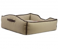 Luxusní pelech pro psy v originálním retro designu BOBBY. Vyjímatelný pohodlný polštář, možnost praní v pračce. (4)