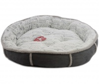 Měkoučký pelíšek pro psy malých a středních plemen z extra jemných materiálů vystlaný měkkou kožešinkou.